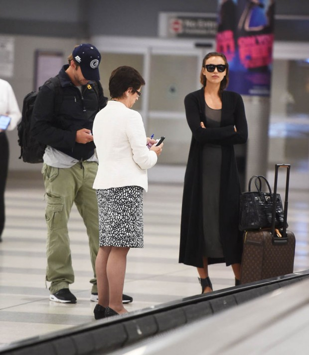Bradley Cooper and Irina Shayk Arrive At JFK Airport