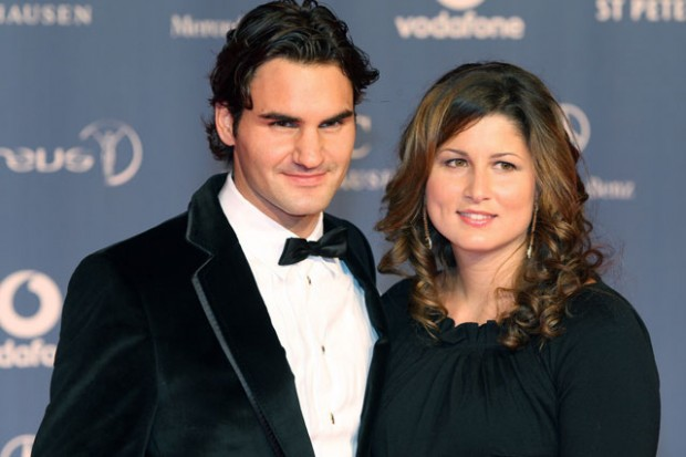 Federer with his wife Mirka at the Laureus World Sports Awards