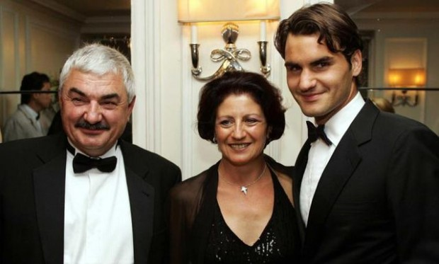 Federer with Robert and Lynette