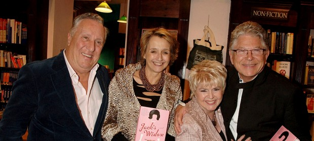 Frederick Forsyth and wife with Gloria Hunniford and Steven Way