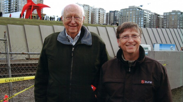 Bill Gates with His Father William H. Gates Sr.