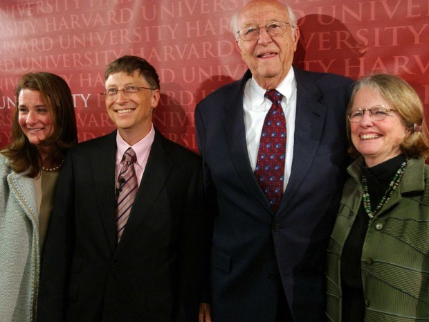 Bill Gates with His Parents Wiiliam and Mary Maxwell Gates