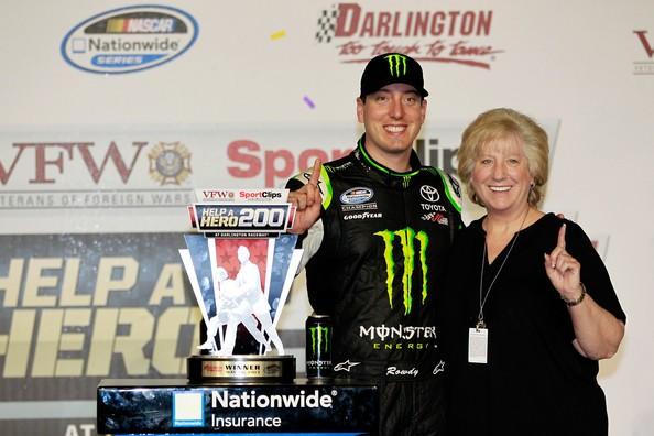 Kyle Busch with His Mom Gaye Busch