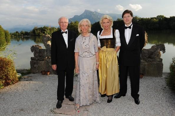 Erich Kellerhals, Helga Kellerhals, Maria Elisabeth Schaeffler and Georg Schaeffler