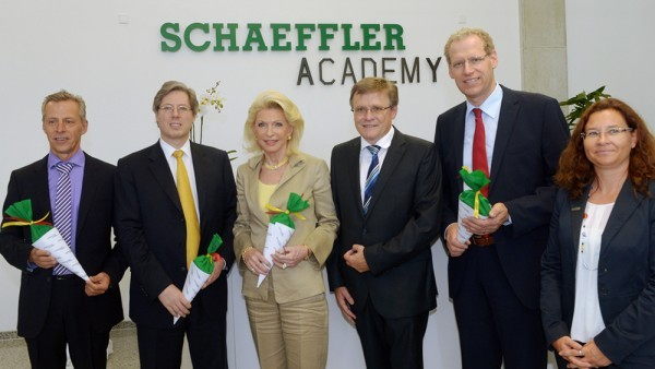 Georg and hismother at Schaeffler Academy