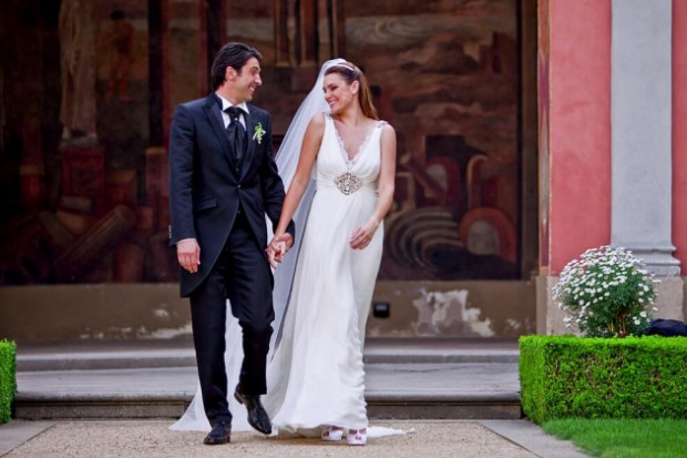 Wedding moments of Alena Seredova and Gigi Buffon