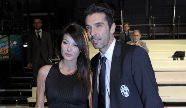Gigi with his girlfriend Ilaria D'Amico
