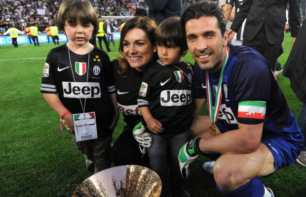 Gigi Buffon and his family