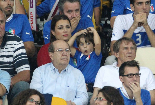 Gigi Buffon' son watcing Euro 2012 match