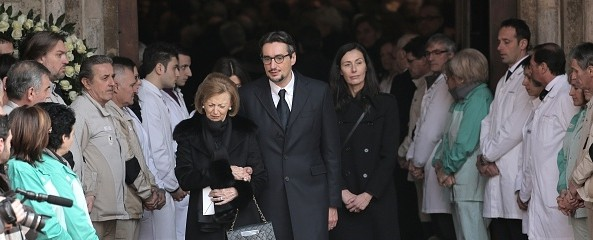 Giovanni Ferrero with his mom and his wife