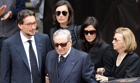 Giovanni Ferrero with his parents and family members