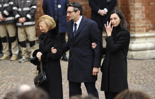 Giovanni with his mother Maria Franca and his spouse Luisa Strumia