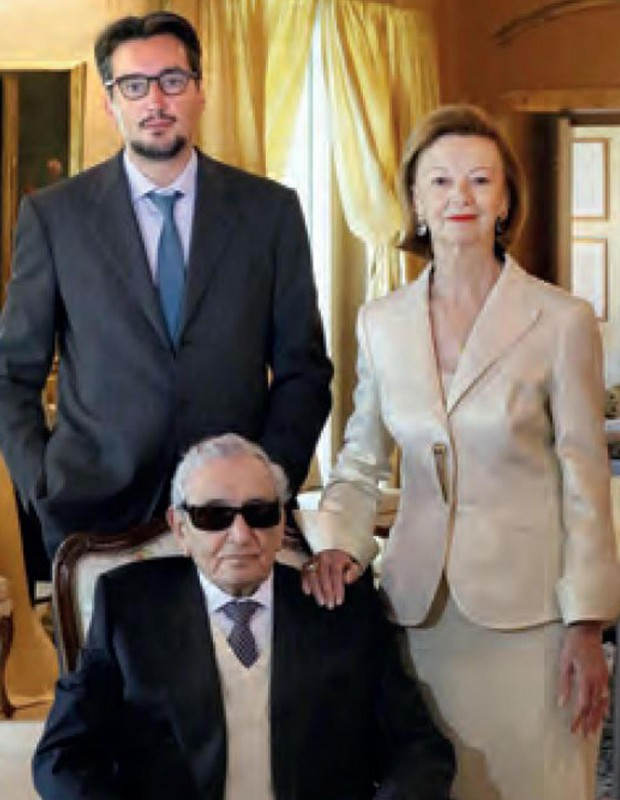 Giovanni Ferrero with his parents