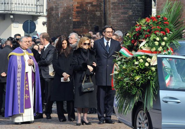 Giovanni and family at Michele Ferrero funeral