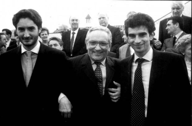 Giovanni with his father Michele and brother Pietro Ferrero Jr.