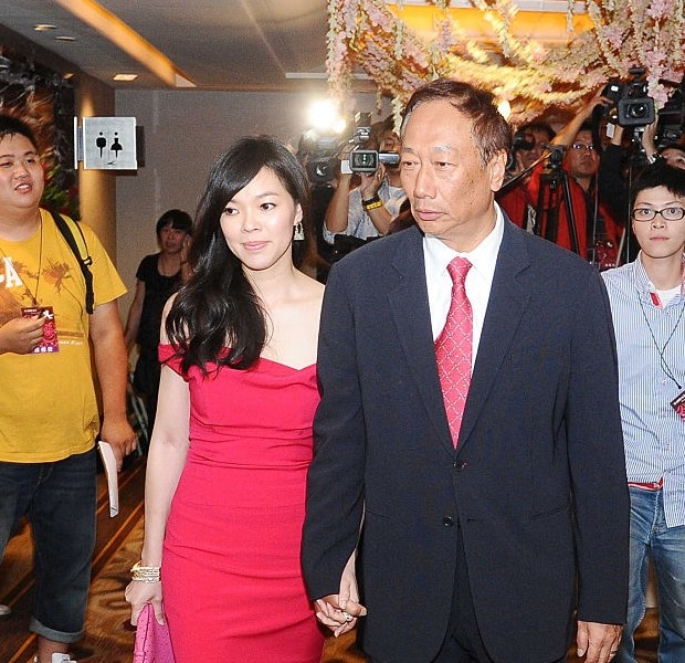 Terry Gou with his wife Delia Tseng