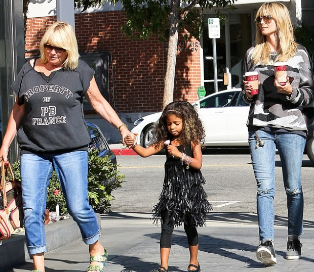 Heidi Klum with mother Erna and daughter Lou