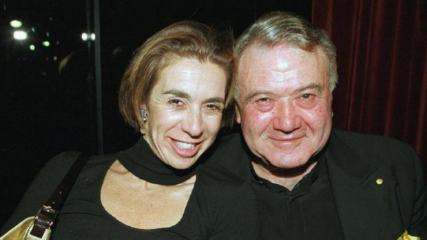 Heloise with her dad Richard Pratt