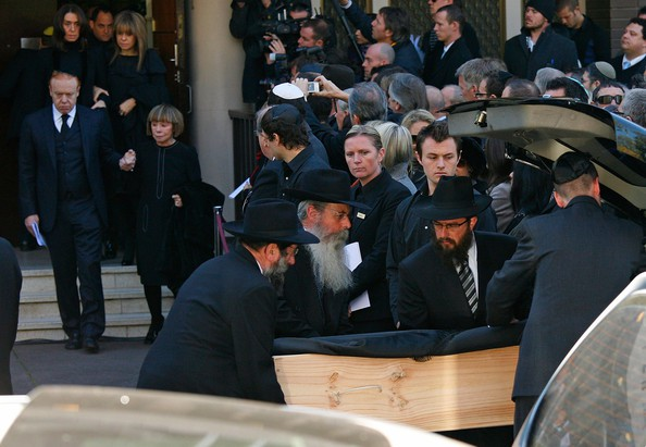 Heloise and family at Richard Pratt's Funeral
