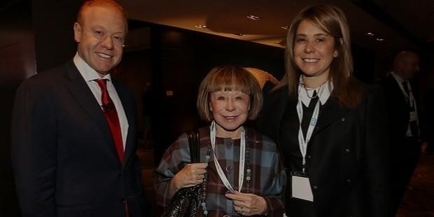 Jeanne Pratt with her son Anthony Pratt and daughter Fiona Geminder