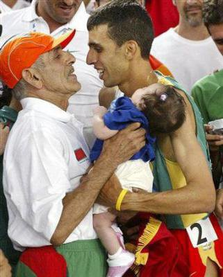 Hicham El Guerrouj and his father