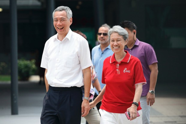 Ho Ching With Her Husband