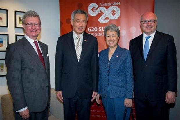 Ho Ching and Lee at G20 Summit