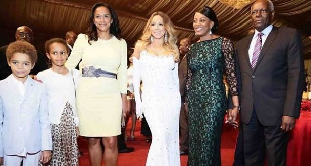 Isabel dos santos with her family