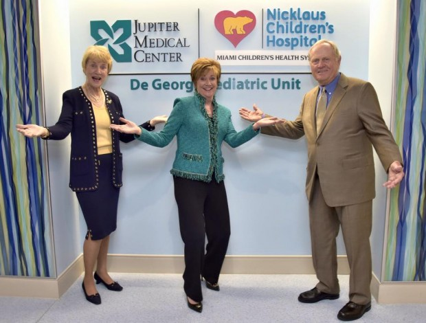 Jack and Barbara with Nicklaus Health Care CEO
