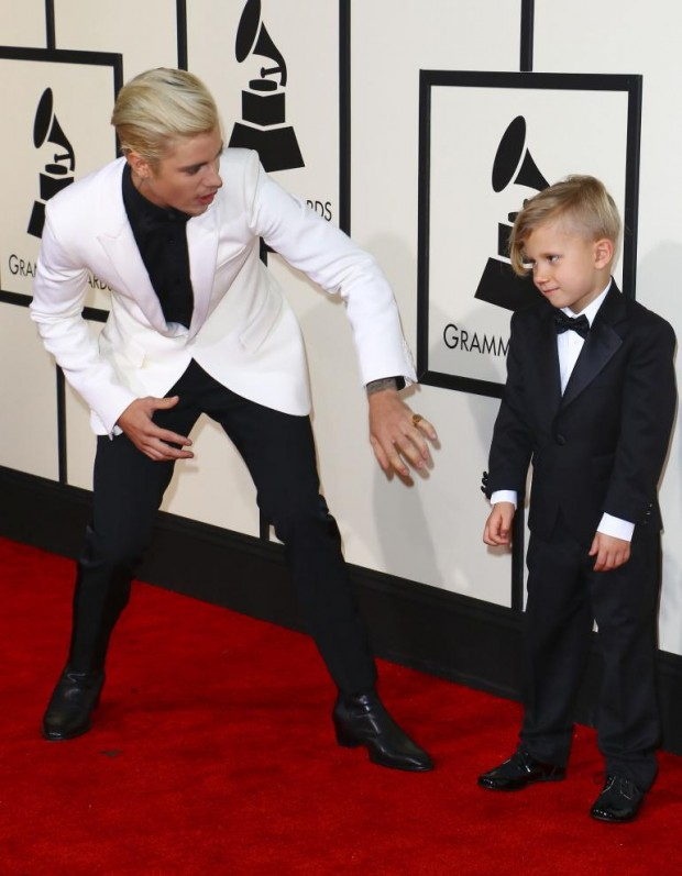 Justin Bieber with His Little Brother Jaxon Bieber