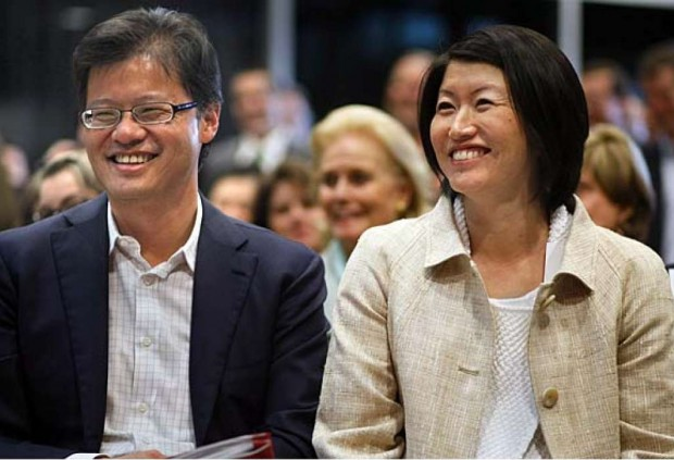 Jerry Yang and Akiko Yamazaki at Stanford University