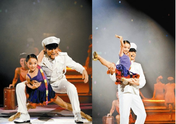 Jet Li daughter Jane Li dance performance with Andy Lau