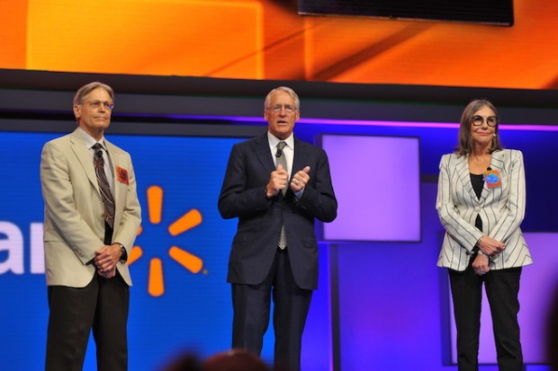 Jim, Rob and Alice Walton at the 2015 Wal-Mart annual meeting in Fayetteville