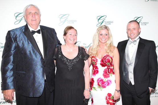 Jim Justice with wife Cathy, daughter Jill and Son Jay Justice