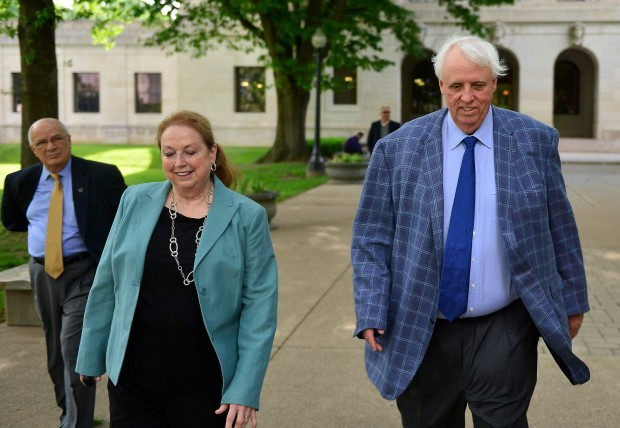 Cathy Justice with her husband Jim Justice