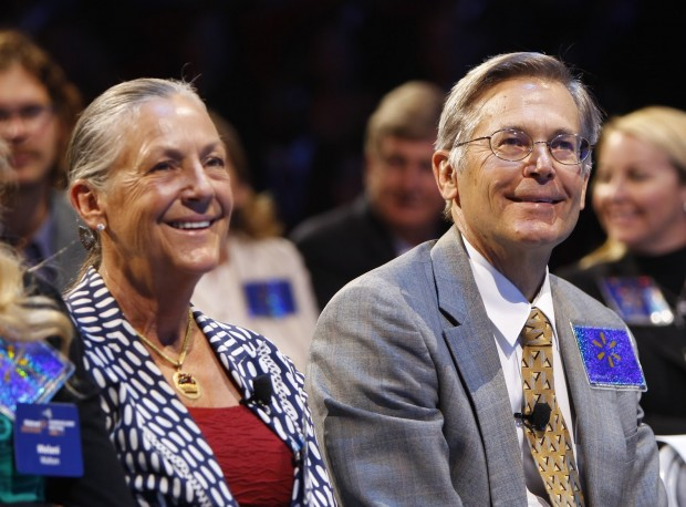 Jim Walton With His Sister Alice Walton