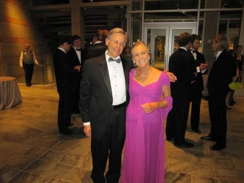 Alice and Jim Walton, at a black tie gala celebrating the opening of Alice's art museum