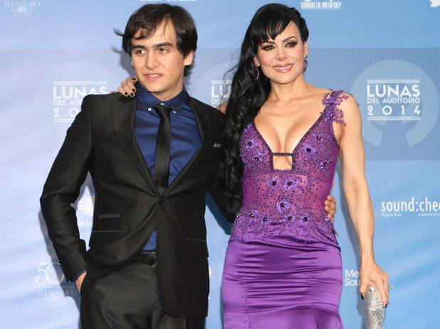 Joan's wife Maribel Guardia and son Julian