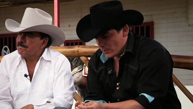 Joan Sebastian with his elder son José Manuel Figueroa