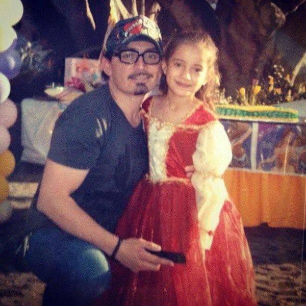José Manuel Figueroa with his sister Marcelia
