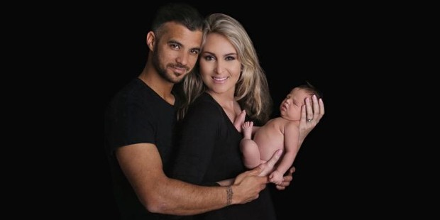 JP Duminy with his family