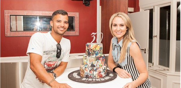 JP Duminy celebrates his 30th birthday with his wife Sue Duminy