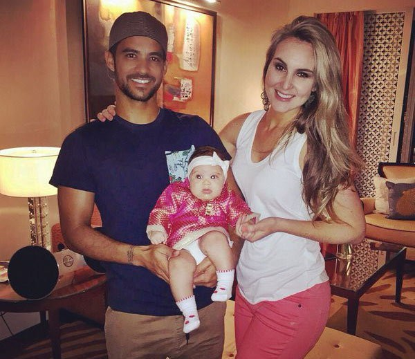 JP Duminy and Sue Duminy with their daughter Isabella