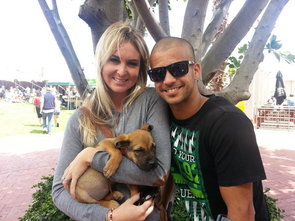 JP Duminy with his wife Sue Duminy