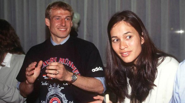Jurgen Klinsmann with his spouse