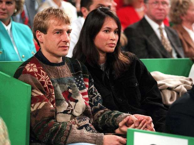 Debbie Chin with her husband Jurgen Klinsmann