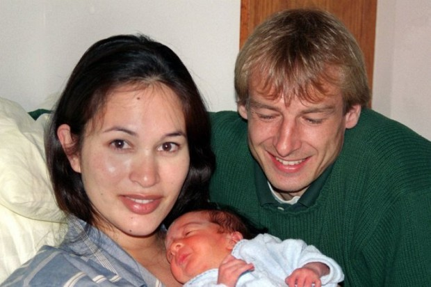 Klinsmann couple with their son Jonathan