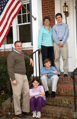 Tim Kaine and his family