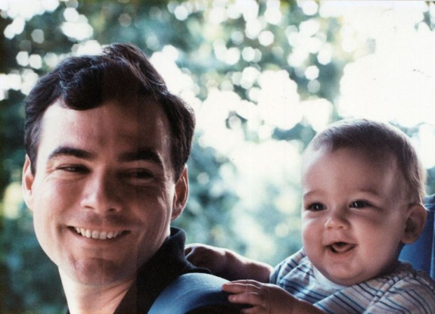 Tim Kaine with his son