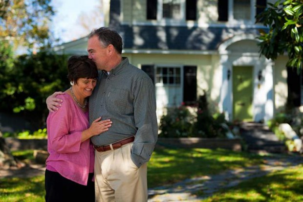 Tim Kaine and his wife Anne Holton